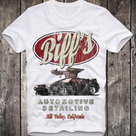 Biffs Auto Detailing White T-Shirt