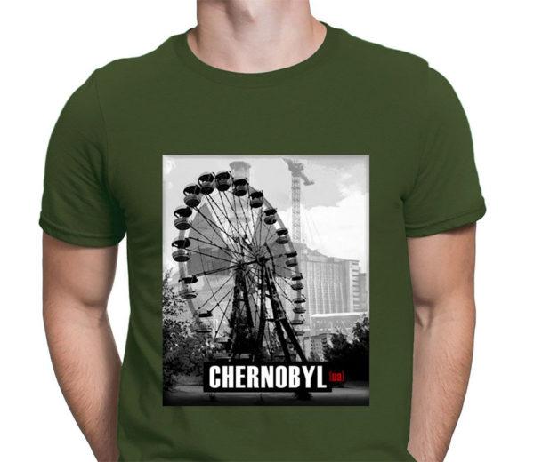 Chernobyl Ferris Wheel Green T-Shirt