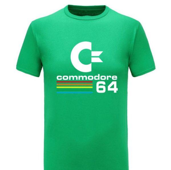 Commodore 64 Retro Computer Green T-Shirt