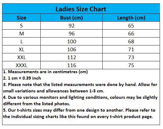 Craewaz Ladies Size Chart 2-1