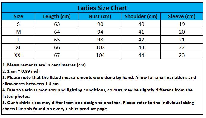 Craewaz Ladies Size Chart 4