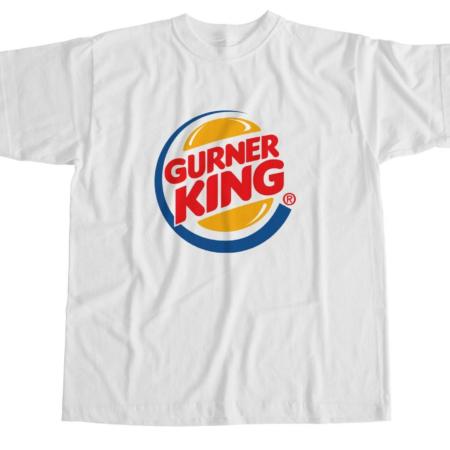 Gurner King Humor Parody White T-Shirt