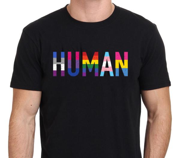 Human Colors Black T-Shirt