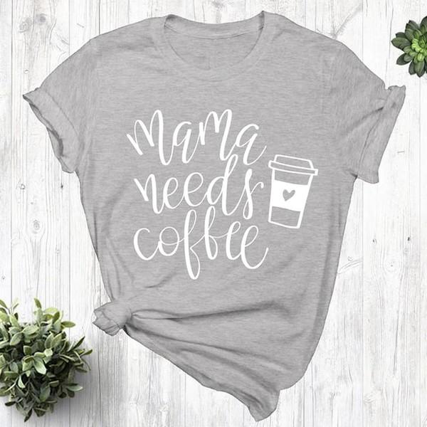 Mama Needs Coffee Grey T-Shirt