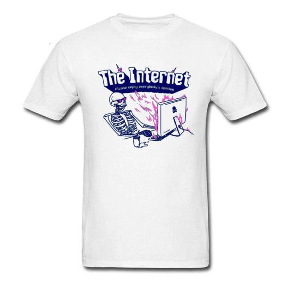 The Internet Please Enjoy Everybodys Opinion White T-Shirt