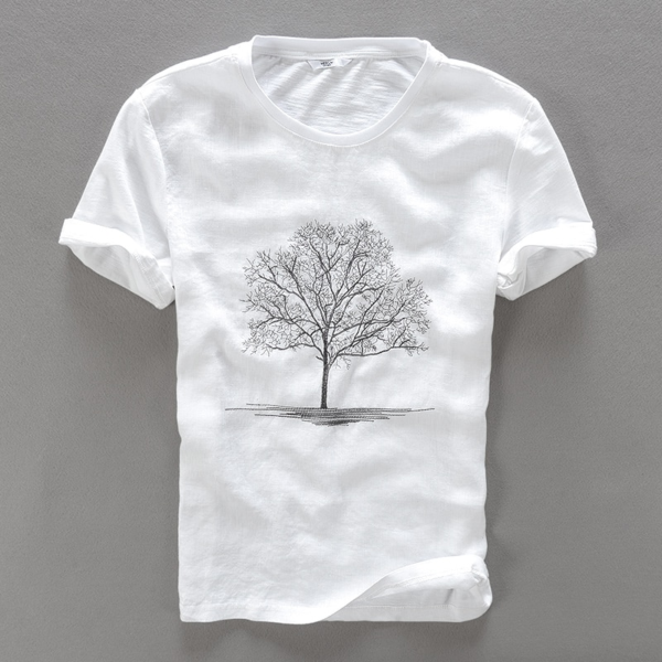 Tree In A Field White T-Shirt