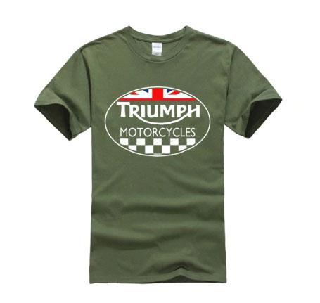 Triumph Motorcycles Summer Army Green T-Shirt